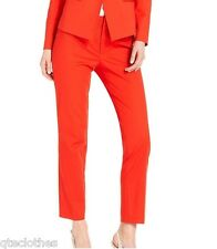 CALVIN KLEIN $89 Poppy Red Stretch Fitted Through Hip &Thigh Pants 14 L29 QCO