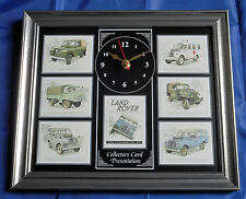 Land Rover Series II & IIA Stunning Collector Cards Wall Clock