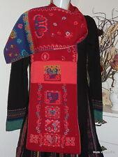 IVKO Merino Schal Floral Scarf rot red blumen wool 54518 Stola XXL Landhaus Herz