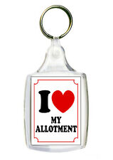 I Love Heart MY ALLOTMENT KEYRING Gift Present Flower Garden