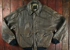 Vtg'87 avirex usaaf type A-2 en cuir blouson aviateur made in usa grand
