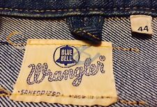 Vintage Harley Davidson Patch Motorcycle Wrangler Blue Bell Denim Jacket. Sz. 44