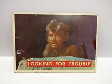 1956 T.C.G. Davy Crockett Green Back Looking For Trouble Card # 56-A