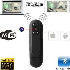 Mini 1080P WIFI HD SPY DVR Hidden IR IP Camera Wireless Nanny Video Recorder Cam
