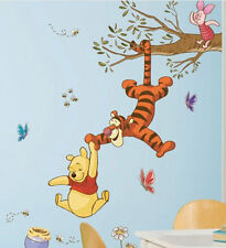 WINNIE THE POOH TIGGER & PIGLET swinging for honey wall stickers MURAL 39 decal