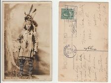 Canada Indianer  Stamm Stoney ,Native Canadian Indian Ethnic type Foto RPPC 1926