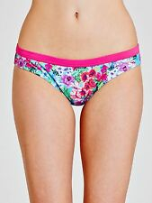 John Lewis Hipster Bikini Exotic Floral Classic Brief Size 10 Turquoise RRP £15