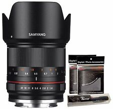 Samyang 21mm F1.4 ED AS UMC CS APSC Wide Angle Lens for Sony E mount ILCE + GIFT