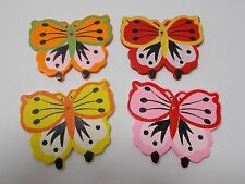 8pcs BIG LARGE 60mm x 52mm Wooden BUTTERFLY Pendant Beads Assorted Mixed Wood
