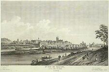 MACON - Vue De Macon prise dans la plaine - Lallemand - Kupferstich 1780