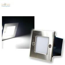 LED Wandeinbauleuchte Außen / Innen, kaltweiß, Edelstahl Wandeinbaustrahler 230V