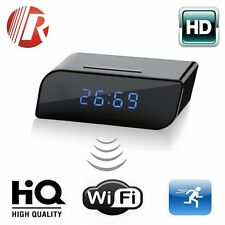 Wireless Wifi IP HD 1080P Clock Spy Hidden Camera IR Security Network Web DV Cam