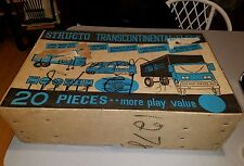 VINTAGE STRUCTO TOYS TRANSCONTINENTAL FLEET 20 PC. ASSORTMENT IN BOX TONKA STEEL