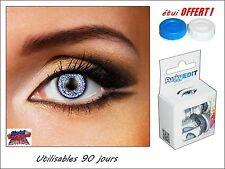 LENTILLES DE CONTACT COULEUR BLEU  Sapphire blue 3 tone + étui offert !