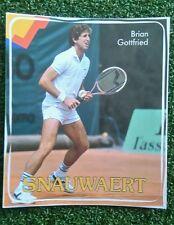 NOS 1980s vintage Snauwaert Brian Gottfried tennis sticker Pony