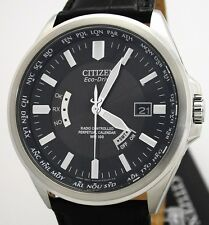 Citizen World-time Perpetual Eco-drive radio reloj solar cb0010-02e