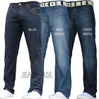 BNWT NEW MENS STRAIGHT LEG REGULAR FIT DARK BLUE DENIM JEANS ALL WAIST SIZES ZMC