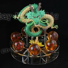 DragonBall Z Shenron (Green) + 7pcs Dragon Balls (3cm) + 1 Set Stand (3cm) Loose