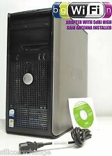 DELL 745 4GB RAM DVDRW 500GB WIFI WIRELESS XP PRO 32BIT TOWER DUAL CORE COMPUTER
