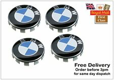 SET OF 4 BMW WHEEL CENTRE CAPS 10 PIN CLIPS 68MM  FITS 1 3 5 7 Series  E34 Z4 X5