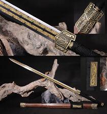 42' ROSE WOOD 1095 CARBON STEEL RED  HANDMADE CHINESE HAN 汉剑 SWORD