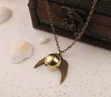 New Harry Potter Snitch Pendant Necklace Gold & Gold US Seller