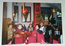 Vintage Photography FUNNY PHOTO CHINESE GROUP IN POLAND HAPPY TO FIND ASIAN FOOD