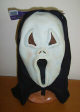 SCREAM SURPRISED HOWLING GHOST FACE MASK GLOW IN THE DARK HALLOWEEN FANCY DRESS