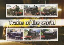 TRAINS OF THE WORLD STEAM TRAINS RAILWAY TRAVEL 2003 MNH STAMP SHEETLET
