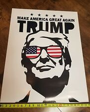 President Trump Make america great again poster street art print banner picture