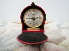 Jaeger Lecoultre, Vintage Swiss JAEGER Recital 8 day Alarm clock w/ Leather Case