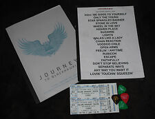 JOURNEY ~ SET LIST ~ EVENT PROGRAM ~ TICKETS ~ PICKS ~ MINT