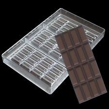 New 3 D 4-Lines Chocolate Bar Mold Polycarbonate Candy Tray Hard PC DIY Mould