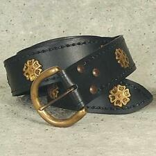 Black Knightly Leather Belt