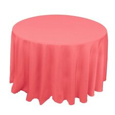 LOT 10 CORAL REEF 120 IN ROUND POLYESTER TABLECLOTHS WEDDING  BANQUET