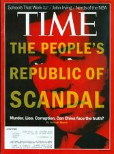 2012 Time Magazine: China's People's Republic of Scandal Murder Lies Corruption