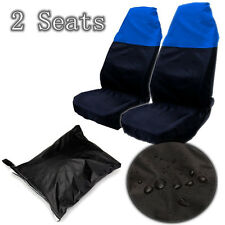 Waterproof Front Car Seat Protectors Covers Pair Universal Nylon Water Resistant