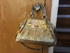 Coach Madison Op Art Large C Signature Sabrina 2 Way Handbag 12943