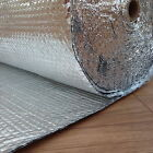 YUZET 1.2m X 5m DOUBLE FOIL ALUMINIUM BUBBLE INSULATION caravan shed loft attic