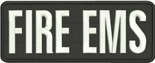 Fire Ems embroidery patch 4x10 hook on back black