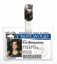 Pretty Little Liars Aria Montgomery ID Badge Cosplay Prop Costume Gift Halloween