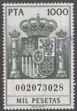 Spain Policy Revenue Polizas Edifil #765 used 1000P Arms 1985 cv $17