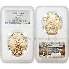 USA 2010 Eagle Early Releases $50 1 oz Gold Coin NGC MS70