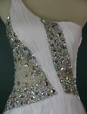 NWT MAC DUGGAL $500 White Formal Prom Pageant Ball Gown Size 2 Evening Cruise
