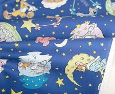 Tom and Jerry Character Cotton Fabric made in Korea by the Yard