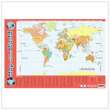 Educational Poster Map of the World - Geography Teaching Resource (0014)