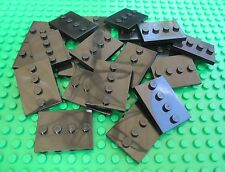 Lego City Town QTY x 20 BLACK MINIFIGURE BASEPLATES 4 x 3 Plates