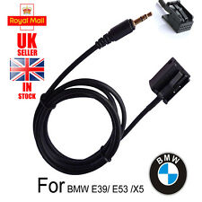 UK Ship Male 3.5mm MP3 AUX CD Adapter Cable for BMW E39 E53 X5  iPod MP3