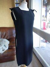 ROBE TUNIQUE NOIRE RHODIA RP T38 VINTAGE 60/70 BLACK TUNIC DRESS size S