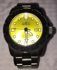 Mens Invicta 17088 Pro Diver Automatic Lime Green Dial Steel Bracelet Watch
